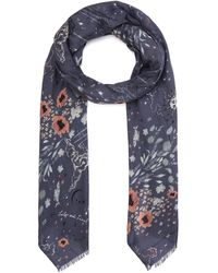 Lily and Lionel Zodiac Modal-blend Scarf - Blue