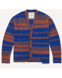 Wooyoungmi Striped Oversized Cardigan - Blue