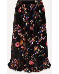 Shrimps George Velvet Skirt - Black