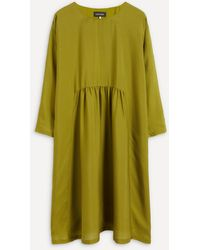 Eskandar A-line Midi-length Dress - Green
