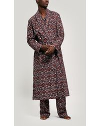 Liberty Strawberry Thief Brushed Cotton Robe - Multicolor