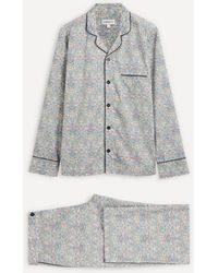 Liberty Strawberry Thief Organic Tana Lawn' Cotton Pyjama Set - Blue