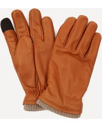 Hestra John Leather Touchscreen Gloves - Brown