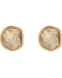 Brooke Gregson - Gold Orbit Diamond Slice Stud Earrings - Lyst