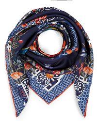 Liberty Patience 90 X 90cm Silk Twill Scarf - Blue