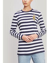 Être Cécile Badge Breton Long Sleeve T-shirt - Blue