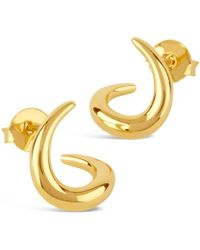 Dinny Hall - Small Gold-plated Toro Twist Stud Earrings - Lyst