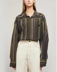 Marni Olive Stripe Oversized Shirt - Green
