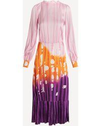 Stella Jean Gradient Midi-dress - Purple