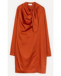 Lemaire Asymmetrical Tie Dress - Orange