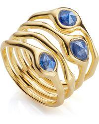 Monica Vinader - Gold Vermeil Siren Cluster Kyanite Cocktail Ring - Lyst