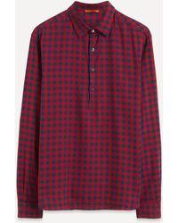 Barena Camicia Pavan Gingham Shirt - Red