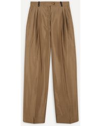 Stine Goya Chet Straight Leg Suit Pants - Brown