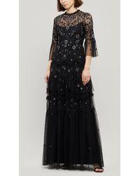Needle & Thread Dahlia Maxi-dress - Black