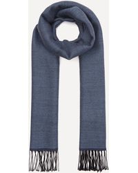 Nick Bronson Double Faced Wool Scarf - Blue