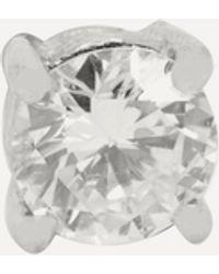 Kojis Platinum Single Diamond Stud Earring - White