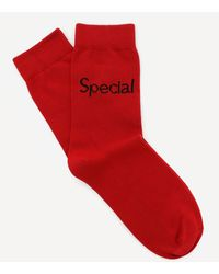 Christopher Kane X More Joy Special Cotton Socks - Red