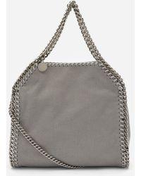 Stella McCartney Mini Falabella Faux Leather Tote Bag - Gray