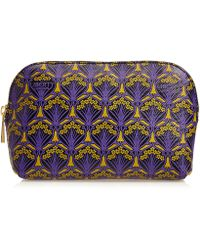 Liberty Make-up Bag In Iphis Canvas - Purple