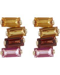 Suzanne Kalan - Gold Topaz Stud Earrings - Lyst