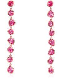 Monica Vinader - Rose Gold Vermeil Siren Pink Quartz Mini Nugget Cocktail Earrings - Lyst