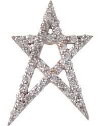 Kismet by Milka - Rose Gold White Diamond Doodle Star Stud Earring - Lyst