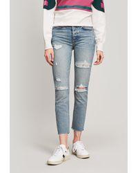 GRLFRND - Karolina Slashed High-rise Jeans - Lyst