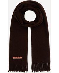 Acne Studios Canada New Wool Scarf - Brown