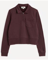 YMC Sugden Half Zip Cotton Sweatshirt - Multicolour