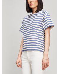Erika Cavallini Semi Couture - Striped T-shirt - Lyst