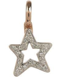 Monica Vinader Rose Gold Plated Vermeil Silver Alphabet Diamond Star Pendant - Metallic