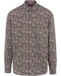 Liberty - Elderberry Print Poplin Cotton Shirt - Lyst