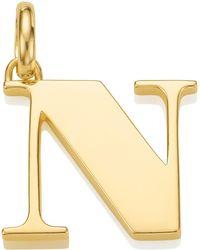 Monica Vinader - Gold Capital N Pendant - Lyst