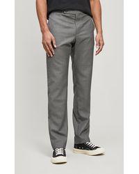 Daniel W. Fletcher Straight-leg Stripe Wool Pants - Grey