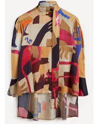 Palmer//Harding Rhesus Printed High-neck Blouse - Multicolour