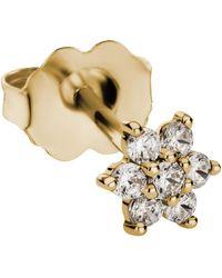 Maria Tash 4.5mm Diamond Flower Stud Earring - Metallic
