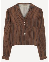 Paloma Wool Moyogui Hand-drawn Print Shirt - Brown