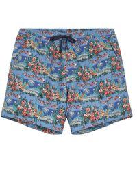 Liberty Relaxed Dina Swim Shorts - Blue