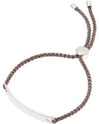 Monica Vinader - Silver Mink Cord Havana Friendship Bracelet - Lyst