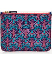 Liberty Coin Pouch In Iphis Canvas - Blue