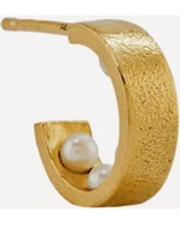 Alex Monroe X Raven Smith Gold-plated Kruez Hidden Pearls Hoop Earring - Metallic