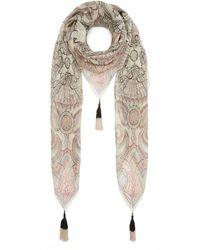 Etro Bombay Paisley Silk Scarf - Natural