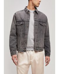 acce5d71 Balmain Bleached Denim Jacket in Blue for Men - Lyst