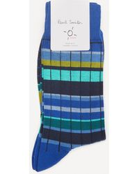 Paul Smith Ralph Ribbed Socks - Blue