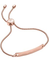 Monica Vinader Rose Gold Plated Vermeil Silver Havana Mini Friendship Chain Bracelet - Metallic