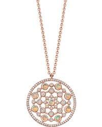 Astley Clarke - Rose Gold Icon Nova Large Opal Pendant Necklace - Lyst