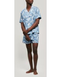 Liberty Kirie Tana Lawntm Cotton Short Pyjama Set - Blue