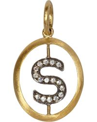 Annoushka 18ct Gold S Diamond Initial Pendant - Metallic