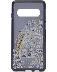 Liberty X Tech21 Pure Print Felix Raisen Samsung 10s Case - Blue