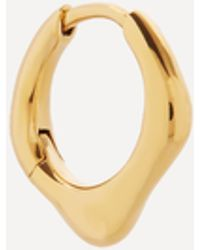 Maria Black Gold-plated Penso Single Huggie Hoop Earring - Metallic